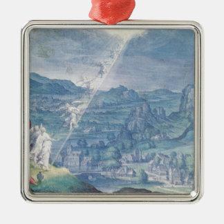 Jakobs Traum Quadratisches Silberfarbenes Ornament