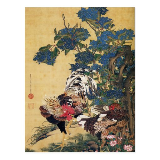Jakuchu, Kunst-Postkarten