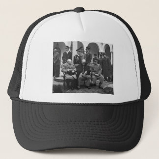 Jalta-Konferenz Roosevelt Stalin Churchill 1945 Truckerkappe