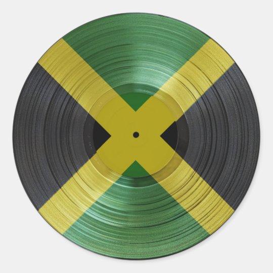 Jamaica Flag Proud Jamaicans Reggae Music Sticker