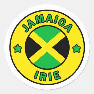 Jamaika-Aufkleber Runder Aufkleber