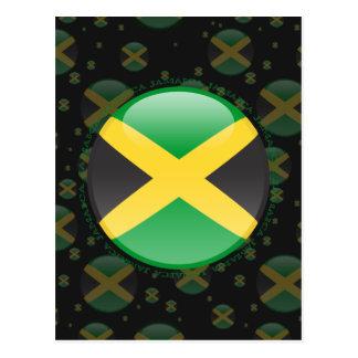 Jamaika-Blasen-Flagge Postkarte