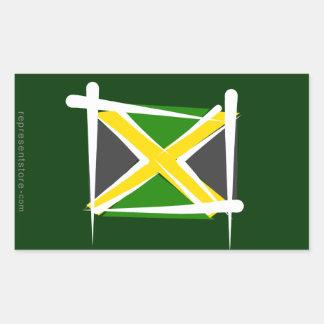 Jamaika-Bürsten-Flagge Aufkleber