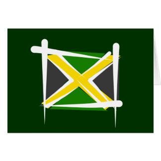 Jamaika-Bürsten-Flagge Karte
