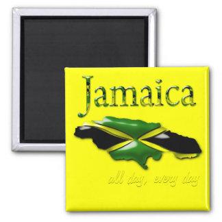 Jamaika den ganzen Tag, jeden Tagmagnet Magnete