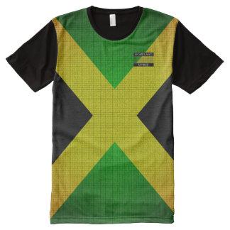 Jamaika-Flagge färbt schwarzen gelbes Grün-T - T-Shirt Mit Bedruckbarer Vorderseite