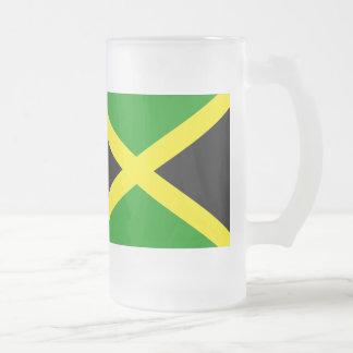 Jamaika-Flagge Mattglas Bierglas