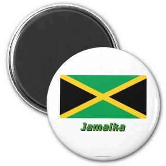 Jamaika Flagge MIT Namen Magnete