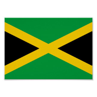 Jamaika-Flagge Poster