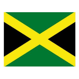 Jamaika-Flagge Postkarte