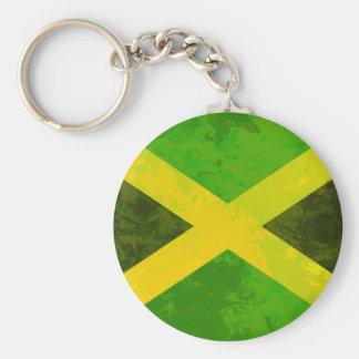 Jamaika-Flagge - Reggaewurzeln Schlüsselanhänger