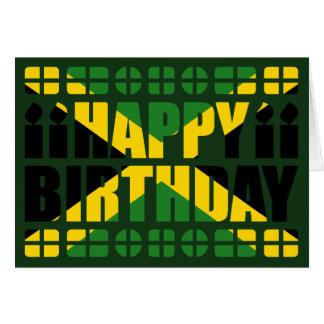 Jamaika-Flaggen-Geburtstags-Karte Grußkarte