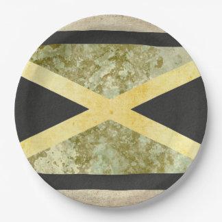 Jamaika-Flaggen-Papier-Teller Pappteller