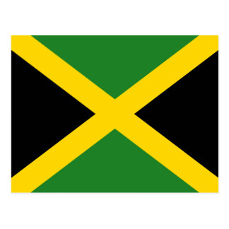 Jamaika-Flaggen-Postkarte Postkarte