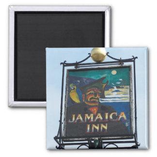 Jamaika-Gasthaus-Kneipen-Zeichen-Fotografie-Magnet Quadratischer Magnet