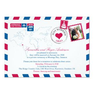 Jamaika-Luftpost-Posten-Hochzeits-Empfang 12,7 X 17,8 Cm Einladungskarte
