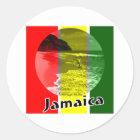 Jamaika Runder Aufkleber