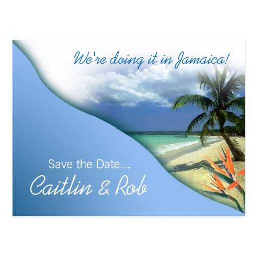 Jamaika Save the Date (karibischer Himmel) Postkarte