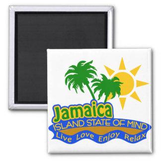 Jamaika-Staat des Sinnesmagneten Quadratischer Magnet