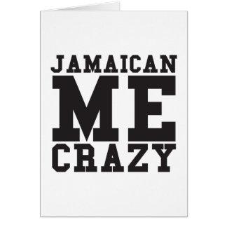 Jamaikanisch ich verrückt karte