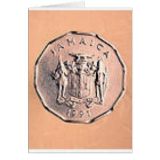 Jamaikanische 1 Cent-Münze Karte