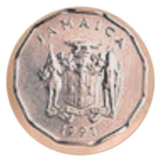 Jamaikanische 1 Cent-Münze Teller