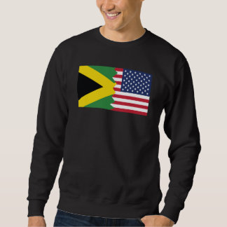 Jamaikanische amerikanische Flagge Sweatshirt