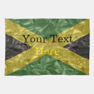 Jamaikanische Flagge - gekrümmt Geschirrtuch