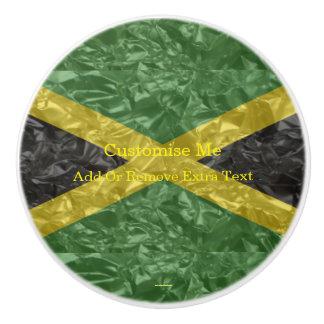 Jamaikanische Flagge - gekrümmt Keramikknauf