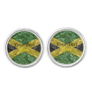 Jamaikanische Flagge - gekrümmt Manschettenknöpfe