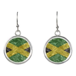 Jamaikanische Flagge - gekrümmt Ohrringe