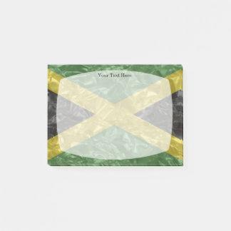 Jamaikanische Flagge - gekrümmt Post-it Klebezettel