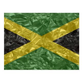 Jamaikanische Flagge - gekrümmt Postkarte