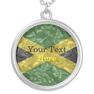 Jamaikanische Flagge - gekrümmt Versilberte Kette