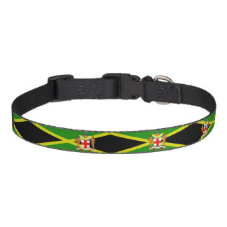 Jamaikanische Flagge Haustierhalsband