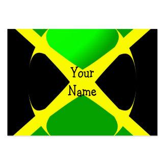 Jamaikanische Flagge mit Blasen-Visitenkarte Jumbo-Visitenkarten