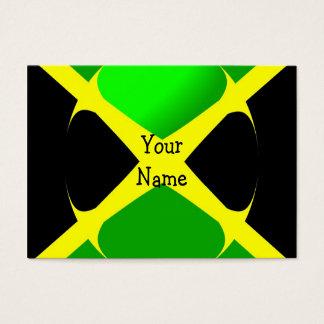 Jamaikanische Flagge mit Blasen-Visitenkarte Visitenkarte