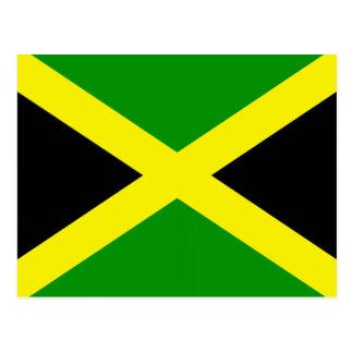 Jamaikanische Flagge Postkarte