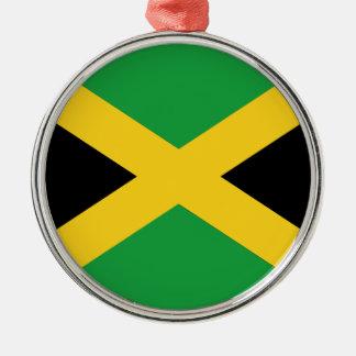 Jamaikanische Flagge Silbernes Ornament