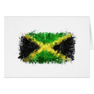 Jamaikanische Flaggen-Graffiti Karte