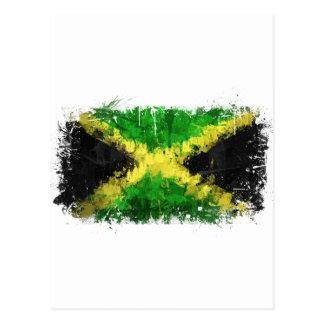 Jamaikanische Flaggen-Graffiti Postkarte