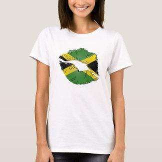 Jamaikanische Flaggen-Lippen T-Shirt