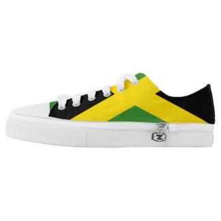Jamaikanische Flaggen-Turnschuhe Niedrig-geschnittene Sneaker