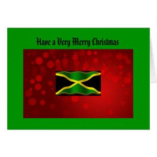 Jamaikanische Flaggen-Weihnachtskarte Karte