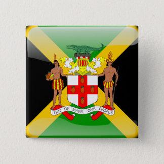 Jamaikanische glatte Flagge Quadratischer Button 5,1 Cm