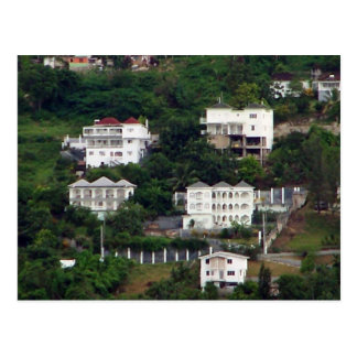 Jamaikanische Häuser Postkarte