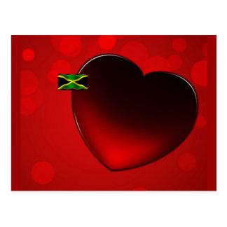 Jamaikanische Herz-Postkarte Postkarte