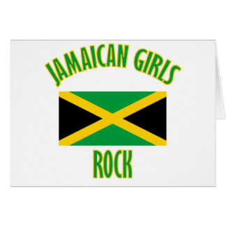 Jamaikanische Mädchen ENTWÜRFE Karte