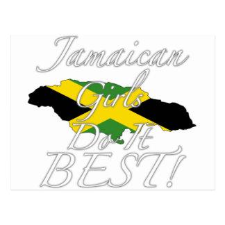 Jamaikanische Mädchen tun es Bestes! Postkarte