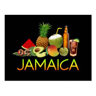 Jamaikanische Nahrung Postkarte